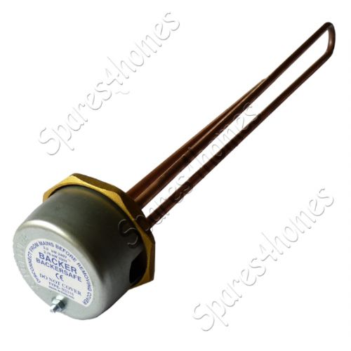 "18"" Immersion Heater Copper Hot Water Element + Thermostat Backersafe"